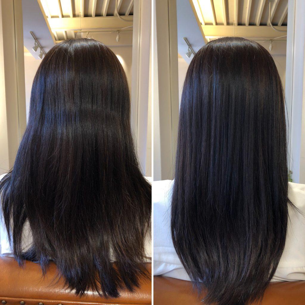 ロングスタイルの方には、水素トリートメント大人気です!髪のシワがとれてボリュームダウン効果!
