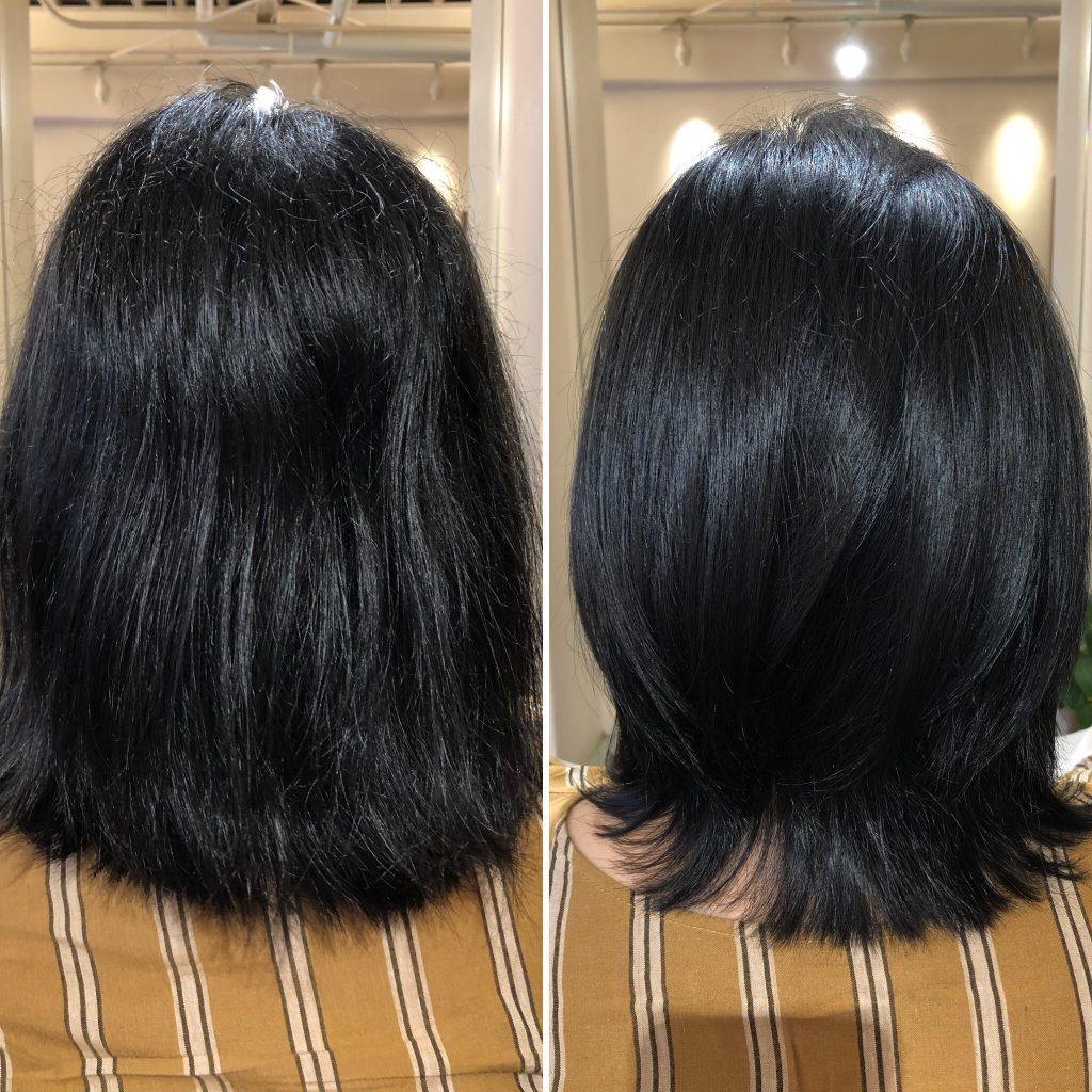 酸化した毛髪は髪のシワになります!水素トリートメントでしっかり還元しましょう!