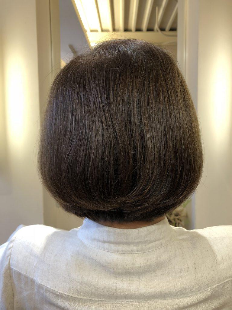 70代のお客様ですが、驚異的な効果が出ております!白髪から黒髪に!