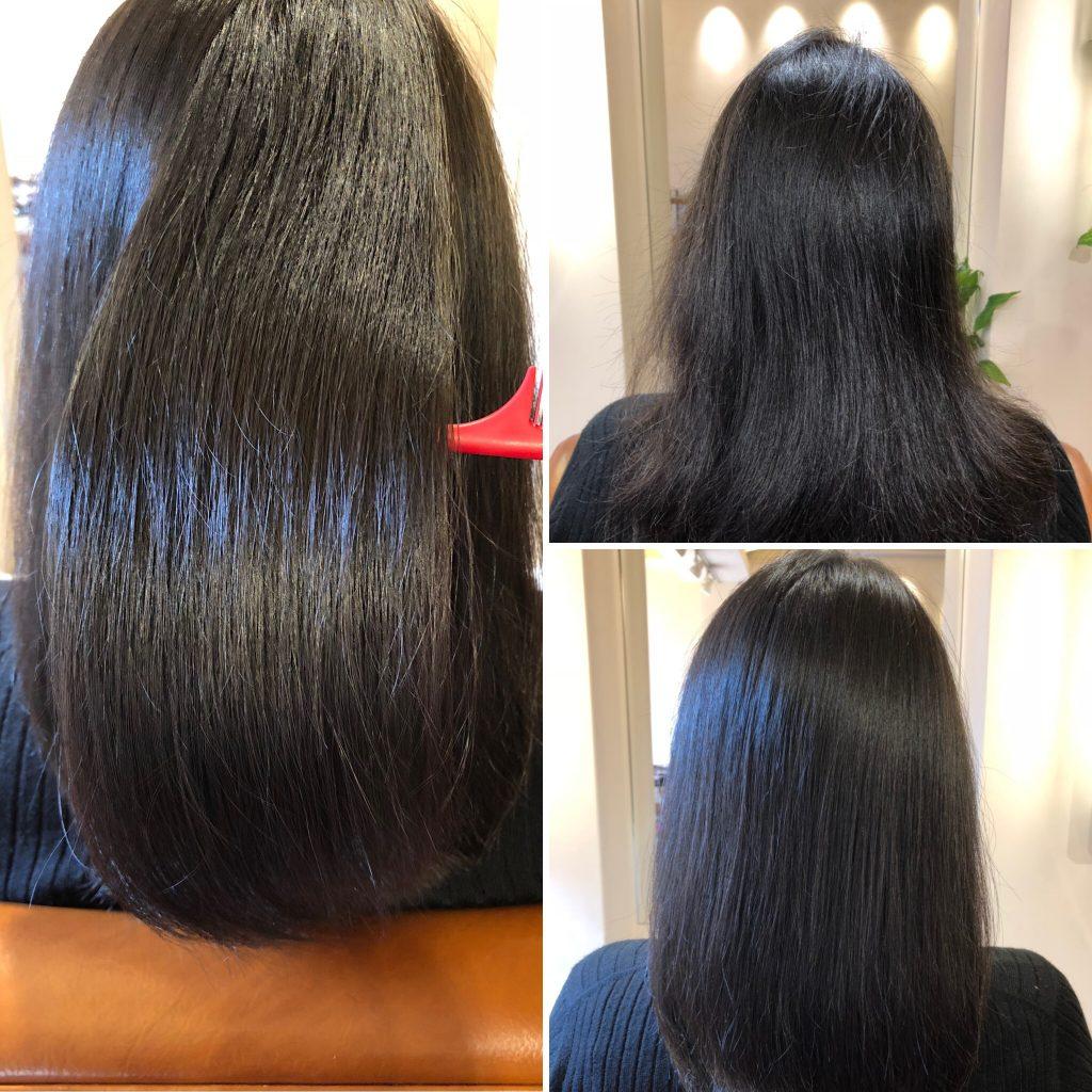 酸化による髪のシワ取ります。高濃度水素で12歳児の毛髪へ!