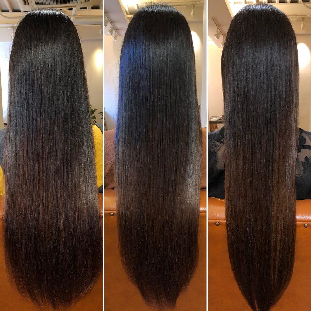 美髪再生プレミアムコース!3回目ですでに効果が!大阪水素トリートメントANTHAIR