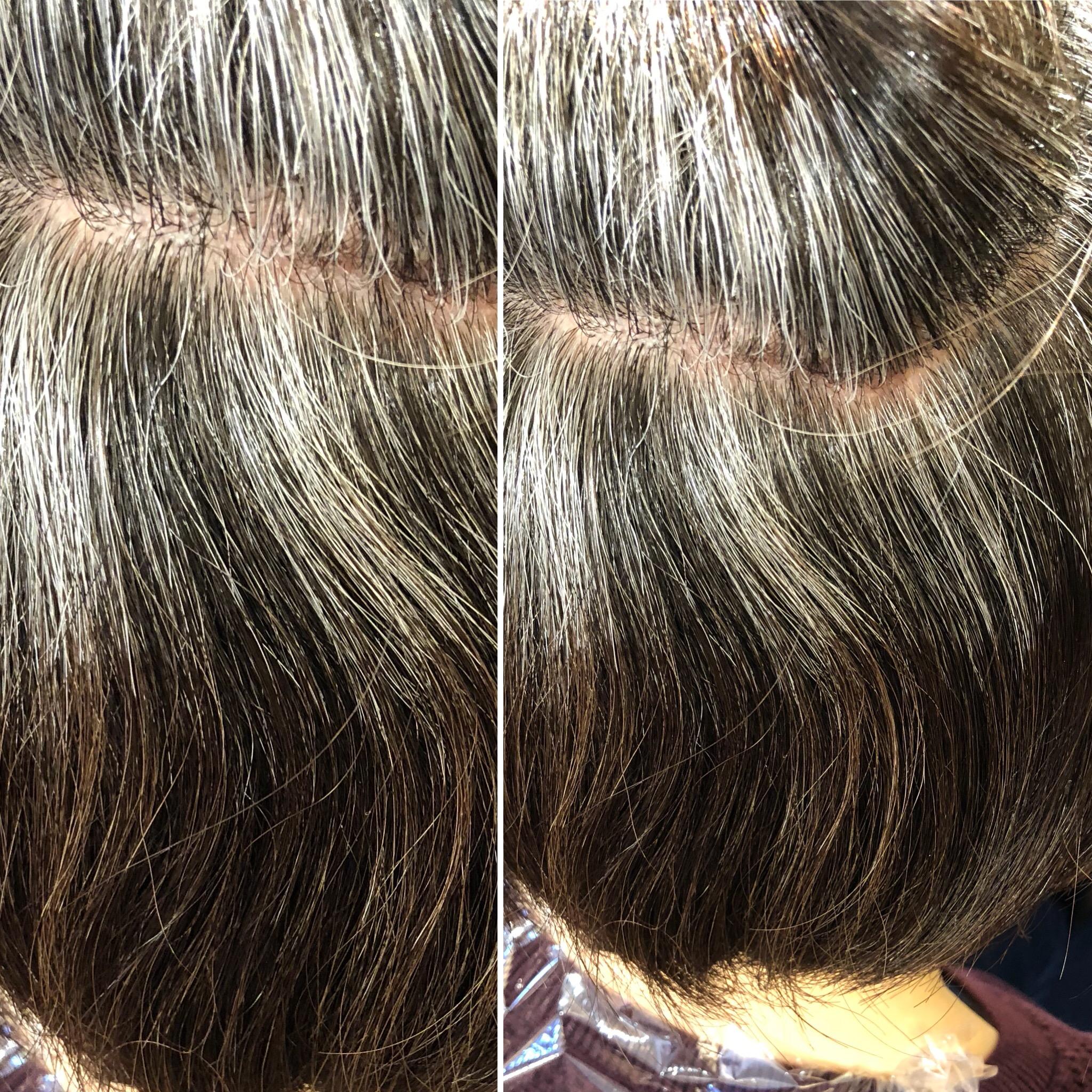 白髪が黒髪に変わりローライト⁈水素トリートメントでの効果抜群に出ます!