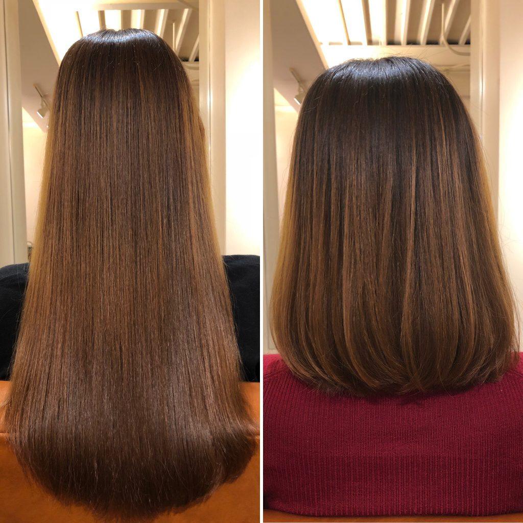 美髪に近づく第一歩!美髪再生プレミアムの仕上がりが今後楽しみですね!大阪水素トリートメント