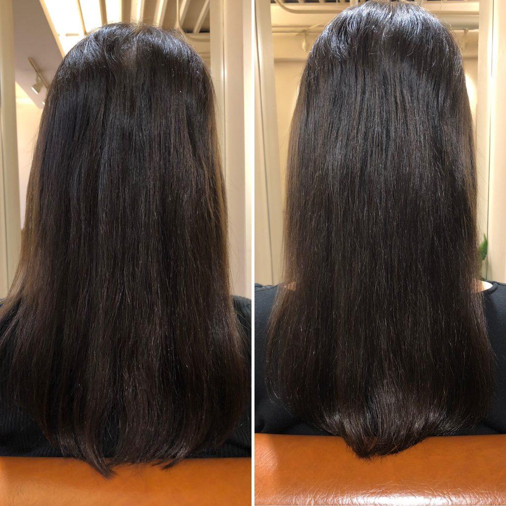 美髪再生プレミアムのトライアルから3週間後のご来店!水素トリートメントを継続されに来ました!