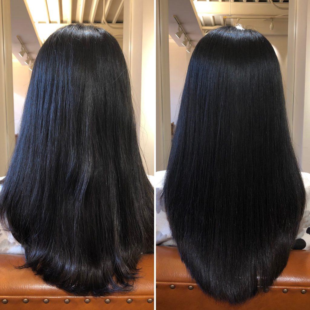 美髪再生プレミアム一度でこの仕上がり!