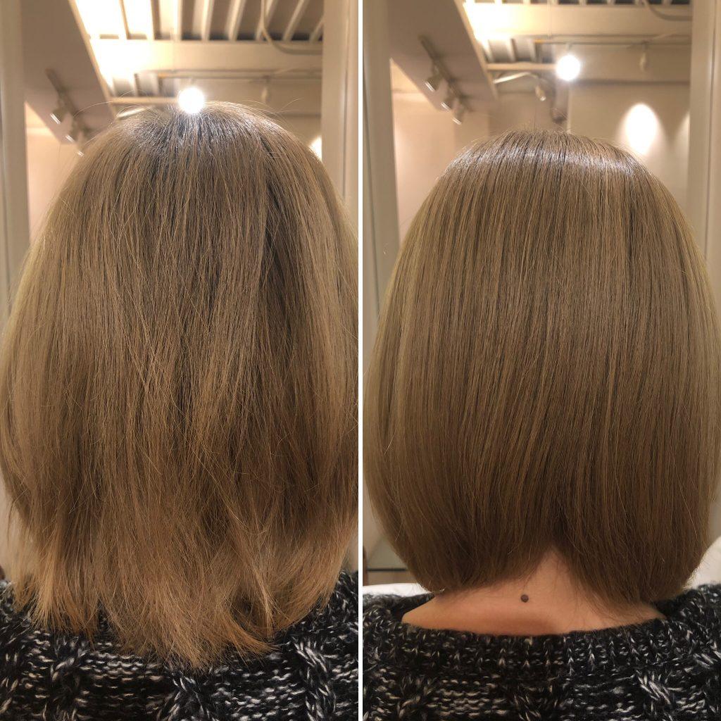 美髪再生プレミアムトライアル!ブリーチONカラー毛も一回でこの仕上がり!ま