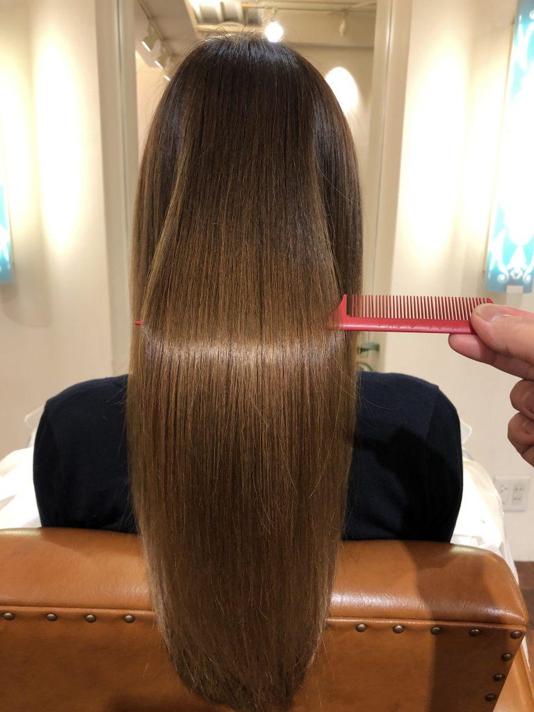 水素トリートメントの継続で美髪になります!!!