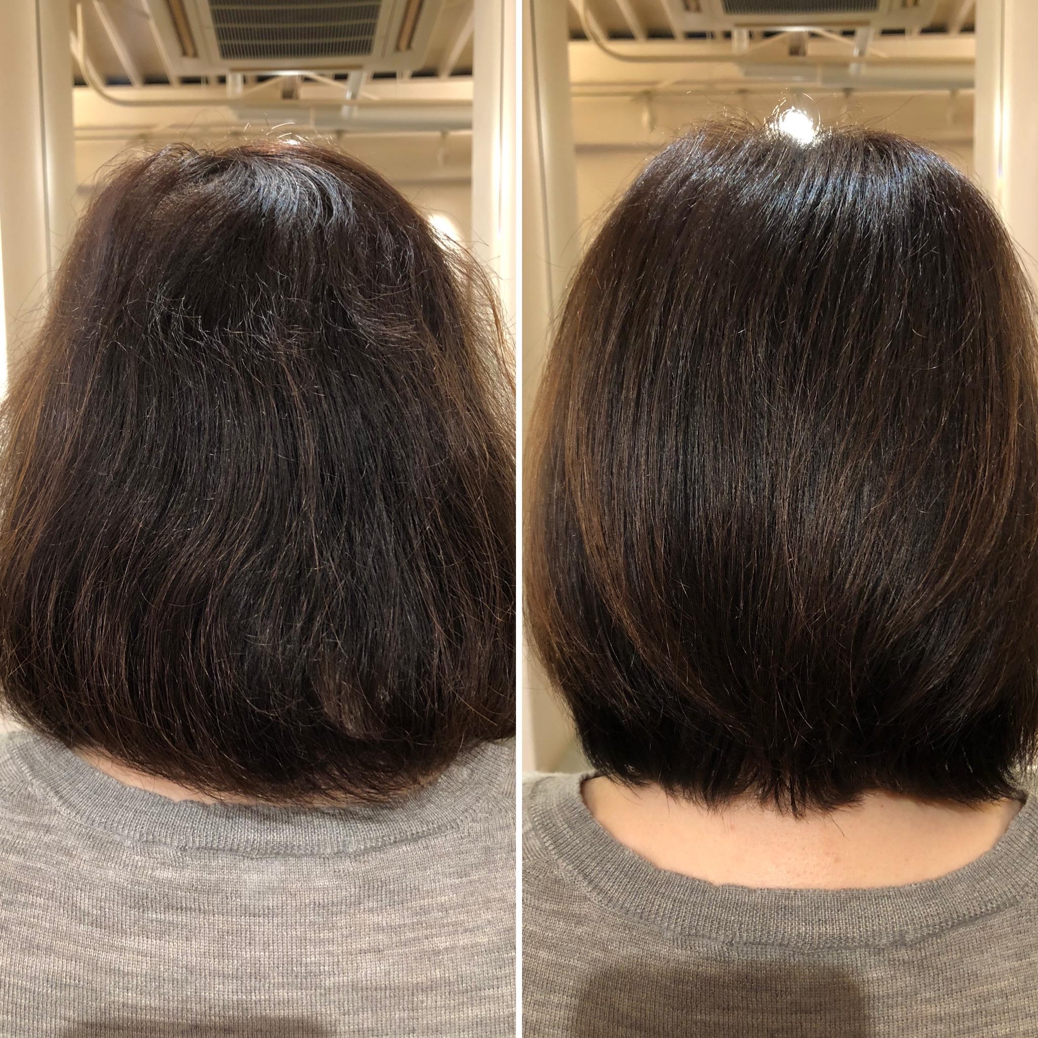 酸化による髪のうねりは真っ直ぐになります!